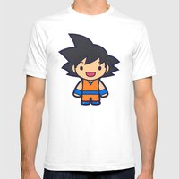 FunSized GoKu Mens Fitted Tee White SMALL