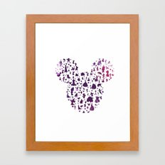 Mickey Ears Silhouette  Framed Art Print