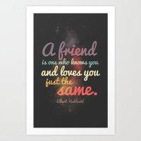 Friendship   Elbert Hubb… Art Print