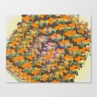 Blocks in Orange Canvas Print