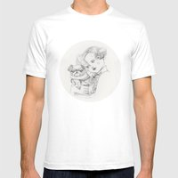Vintage Pug Mens Fitted Tee White SMALL