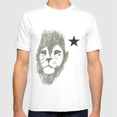 Punkster Lion *remade for tshirts* White SMALL Mens Fitted Tee