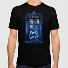 Tardis doctor who with Bad wolf graffiti iPhone 4 4s 5 5s 5c, ipod, ipad case SMALL Mens Fitted Tee Black