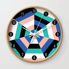 Heptagon Quilt 3 Wall Clock