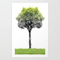 Rooted Sound V (clarinet… Art Print