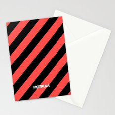 Infrared Lines / Black Stationery Cards