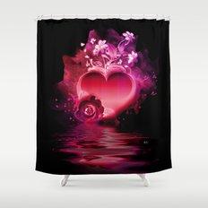 Flooding Heart Shower Curtain