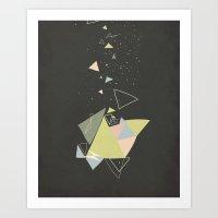 Exploding Triangles//Five Art Print