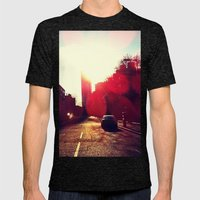 A Long Road Mens Fitted Tee Tri-Black SMALL
