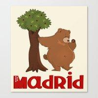 MADRID: Bear And Madrono… Canvas Print