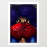 Hiding.  Art Print