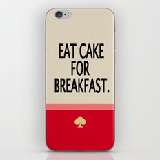 Kate Spade Inspired Eat Cake For Breakfast iPhone & iPod Skin