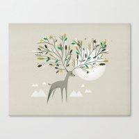 Deer Forest Canvas Print