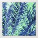 Tropical Palm Blue Canvas Print