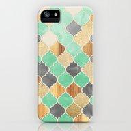 Charcoal, Mint, Wood & G… iPhone (5, 5s) Slim Case