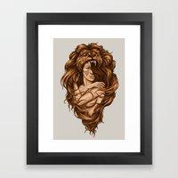Lion Queen Framed Art Print