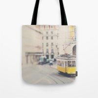 City Trams ...  Tote Bag