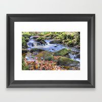 Padley Gorge Waterfall Framed Art Print