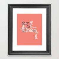 Dare To Love -- Alternat… Framed Art Print