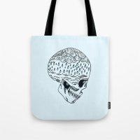 Skull Rain Tote Bag