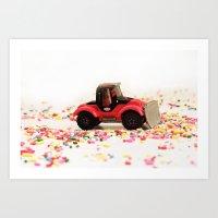 Candy Land Construction Art Print