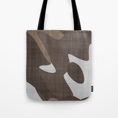 Brown and White abstract Tote Bag