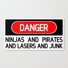 Danger: Ninjas Canvas Print