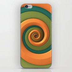 Tri-Color Swirl iPhone & iPod Skin