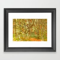 Hanging By A Thread Framed Art Print