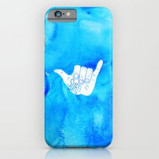 Surf Hang Loose Hawaiian Ocean Blue Hip Watercolor iPhone 6 Slim Case