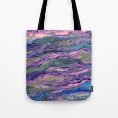 MARBLE IDEA! LAVENDER PINK PEACH Abstract Watercolor Painting Colorful Geological Nature Marbled Art Tote Bag