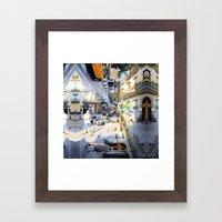 Summer space, smelting selves, simmer shimmers. 07 Framed Art Print