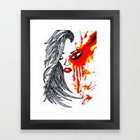 On Fire. Framed Art Print