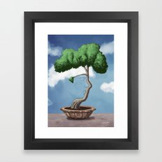 'Bonsai choose own way grow because root strong' (Daniel version) Framed Art Print