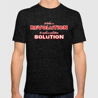 It Takes A Revolution To Make A Solution Mens Fitted Tee Tri-Black SMALL