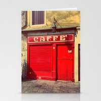 Caffè In Red Stationery Cards