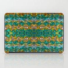 Molten gold with impurities iPad Case