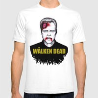 THE WALKEN DEAD Mens Fitted Tee White SMALL