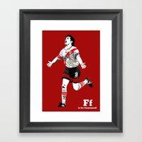 F Is For Francescoli Framed Art Print