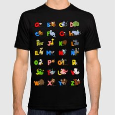 ABC (spanish) Black Mens Fitted Tee SMALL