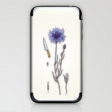 blue cornflower and knife iPhone & iPod Skin