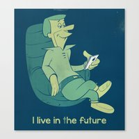 I live in the future - The Jetsons revival Canvas Print