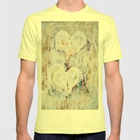 winter Hearts-2 Mens Fitted Tee Lemon SMALL