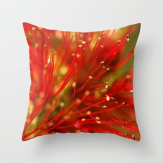 Bottle Brush Details Throw Pillow