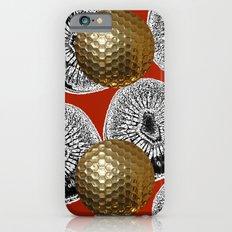 RED PATTERN GOLD GOLF BALLS Slim Case iPhone 6s