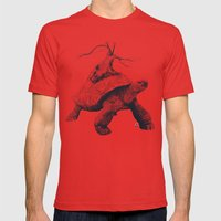 Tortoise Tree Mens Fitted Tee Red SMALL