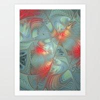 String Theory Fractal Art Art Print