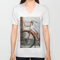 Red bicycle Unisex V-Neck