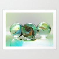 Glass Balls Art Print