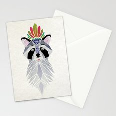 raccoon spirit Stationery Cards